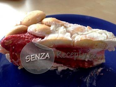 Jahodový dort ze zakysane smetany nepeceny - Strawberry tart - unbaked