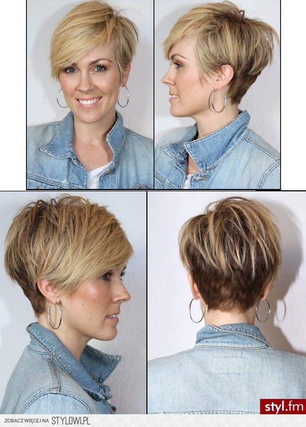 Fryzury  Blond włosy: Fryzury Krótkie
