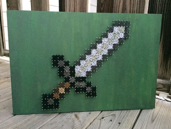 MineCraft Sword String Art