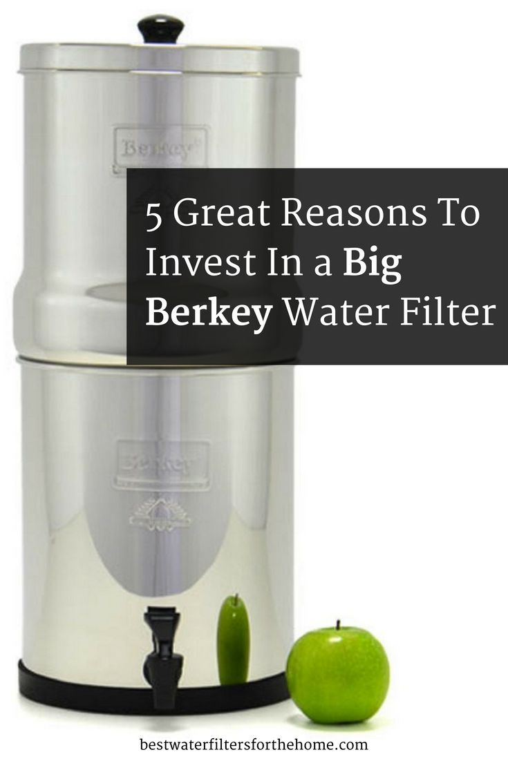 I've owned a water filter for years now, as it reduces or removes many of the nasties such as chlorine and heavy metals that are lurking in most tap water supplies and can be detrimental to our health long term. The Big Berkey water filter is possibly the most powerful water filter in the world, as it removes practically contaminant going! It's like the Rolls Royce of water filters! If you have the money to invest in one, it will set you up for life with clean, pure water for life...