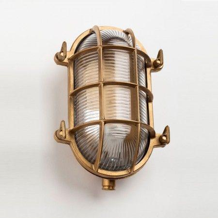 Oval Brass Bulkhead Outdoor Light - Wall Lights & Wall Sconces - Lighting - Lighting & Mirrors