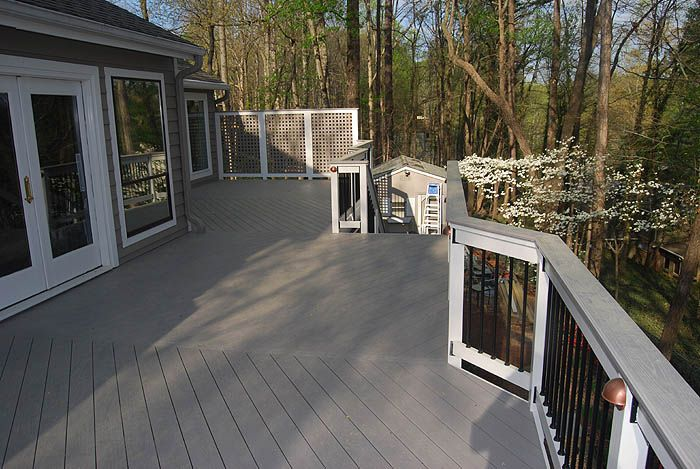 Gray Deck With Brown Rail Roswell Ga Azek Procell