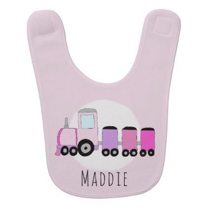 Personalized baby girl locomotive train with name bib baby gifts personalized baby girl locomotive train with name bib baby gifts child new born gift idea diy cyo special unique design baby gifts pinterest negle Choice Image