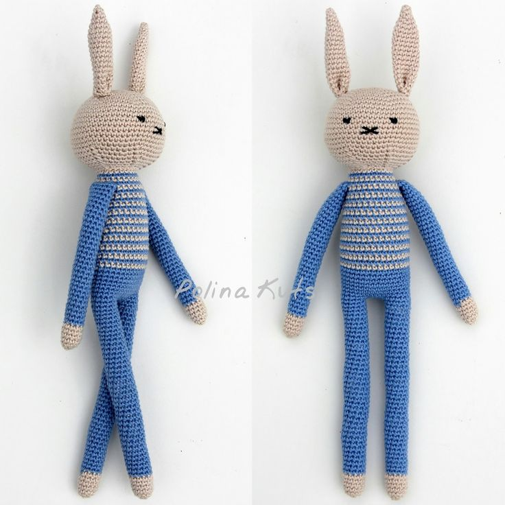 Мои длинноногие зайцы много раз были повторены мною для друзей и их деток.  Все вариации можно посмотреть ЗДЕСЬ .  А ЗДЕСЬ ...