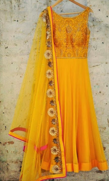 Bright & Beautiful Anarkali by Amrita Thakur https://www.facebook.com/pages/Amrita-Thakur/112558018840657 via CitiGirlScene