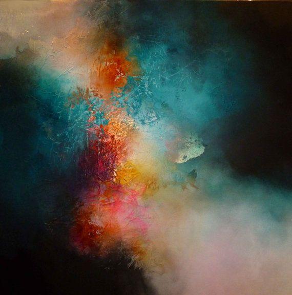 Grande dipinto astratto di Kenny Simon di SimonkennysPaintings