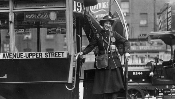 London bus conductor during WW1