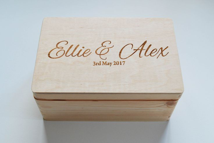 Personalised Wooden Wedding box, Mr&Mrs box, Personalised box, Keepsake box, Memory Box, Made to Order by FlolliePopDesigns on Etsy
