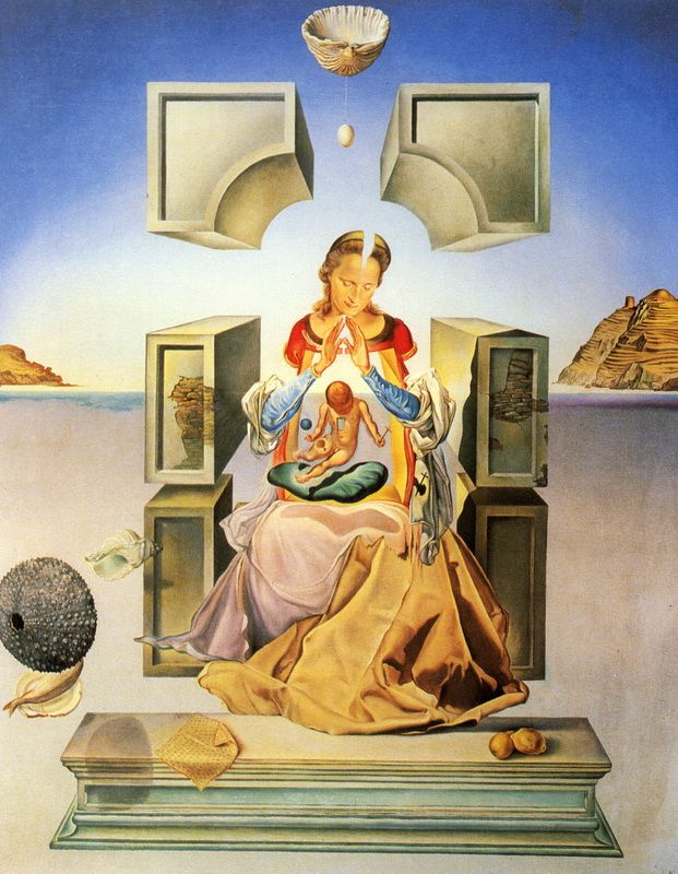 Salvador Dali - The Madonna of Port Lligat (first version) (oil on canvas, 1949) - Мадонна Порт-Льигата, Сальвадор Дали, 1949