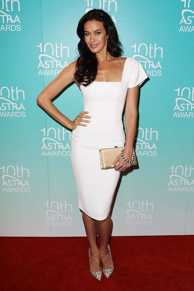 Megan Gale One Shoulder Dress - Megan Gale Looks - StyleBistro