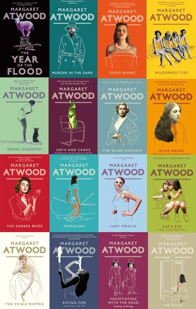 libraryland:  ravished:  reading through margaret atwood's fiction, currently. Surfacing The Blind Assassin Oryx & Crake currently reading The Robber Bride.  Gorgeous covers!