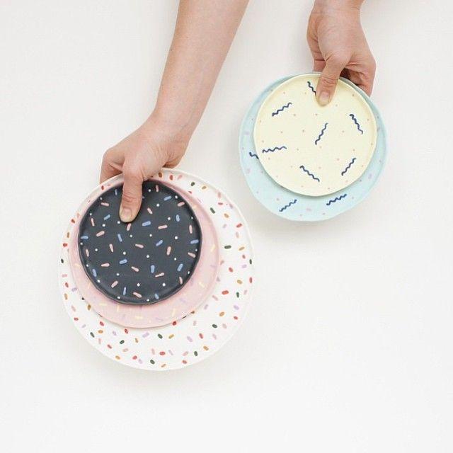 Plates by Leah Jackson | I love her ceramics!