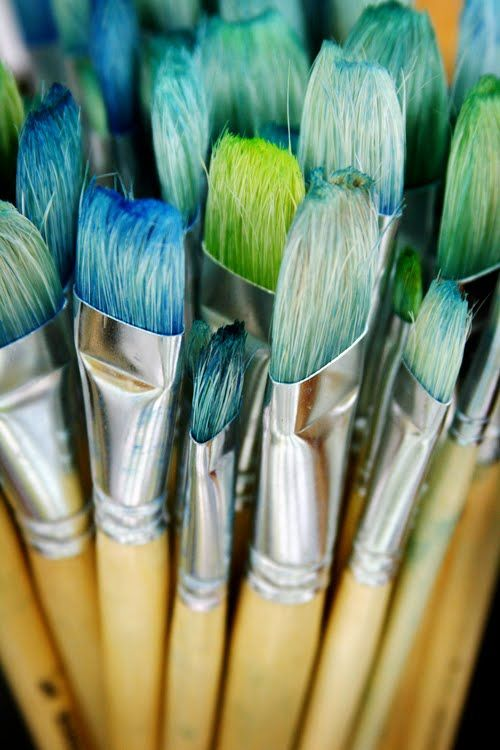 What's better than shades of #turquoise and beautiful #paintbrushes ?