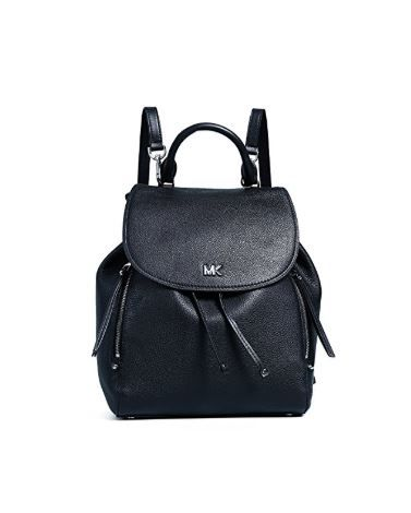 a68754e1100adf MICHAEL Michael Kors Women's Evie Medium Backpack, Black, One Size ...
