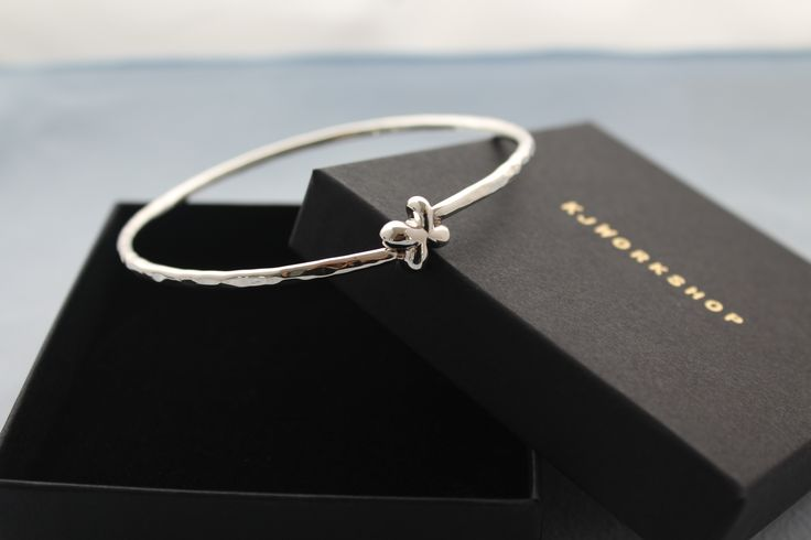 Sterling Silver Arm Bangle- Hand Crafted Hammered solid silver Bangle