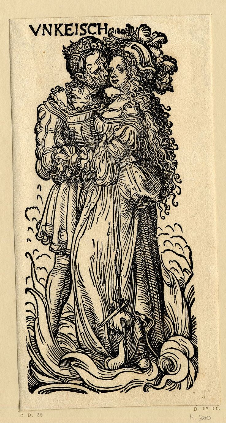 Artist: Burgkmair, Hans the Elder, Title: The Seven Vices, Unkeisch (Lust), Date: ca. 1510