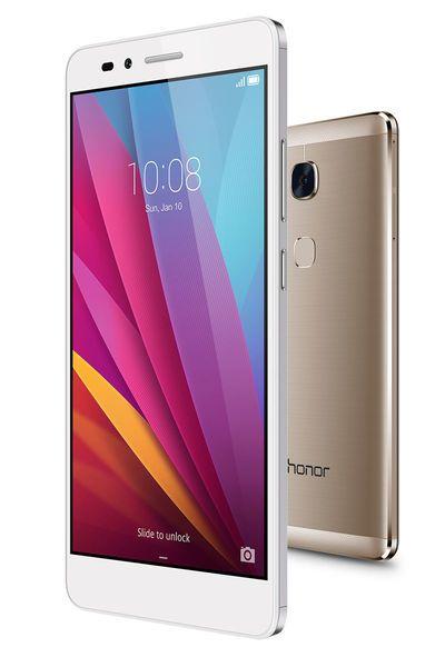 Aluminiumgehäuse, Fingerprint-Sensor und drei Karten-Slots für nano-SIM, micro-SIM und microSD. Huawei hat ein neues Smartphone im Programm, das Honor 5X. Das 5,5-Zoll-Gerät kommt in den drei neuen Klassikfarben Gold, Silber und Grau mit einer lichtstarken 13 Megapixelkamera und 5 Megapixel auf der Front. Preis: 229 Euro kostet das Android-Gerät.