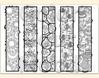 Printable Coloring Zendoodle Bookmarks By ColorYourMood On Etsy