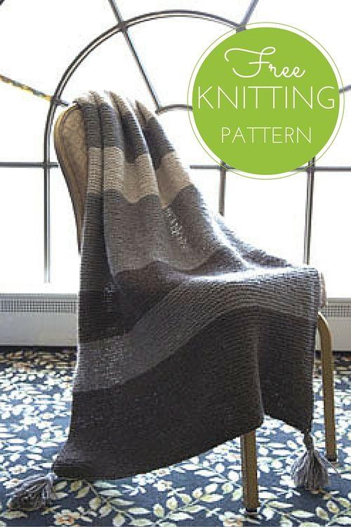 Striped Garter Throw Free Knitting Pattern