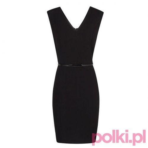 Czarna sukienka, Mango #polkipl