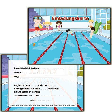 Geburtstags Einladung Schwimmbad Basteln Einladungskarten Kindergeburtstag Zum Ausdrucken Einladung Kindergeburtstag Einladungskarten Kindergeburtstag