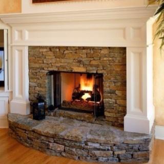 Fireplace... Would Just Need To Resurface Brick W/stone.