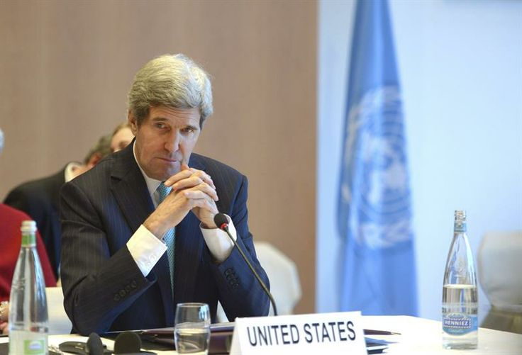 """Kerry: """"EE.UU. considera todas las opciones para resolver el conflicto sirio, incluso la militar"""". (Foto: EFE)"""