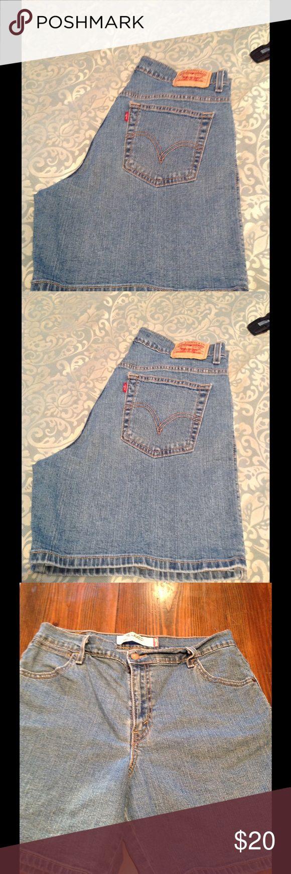"Levi's women's jean shorts 550 Relaxed fit women's Levi's shorts. With 6"" inseam Levis Shorts Jean Shorts"