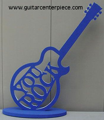 painted styrofoam guitar centerpiece