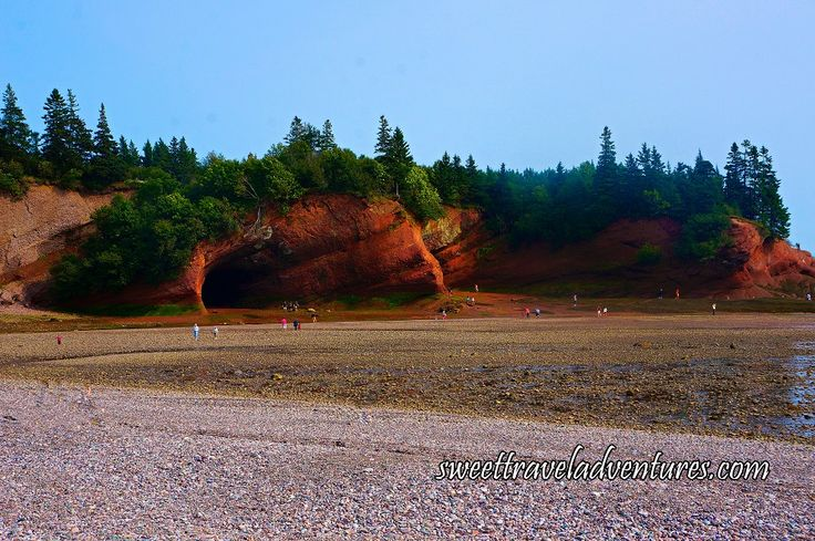 Close-Up of St. Martins Sea Caves at Low Tide in the Village of St. Martins near Saint John, New Brunswick, Canada