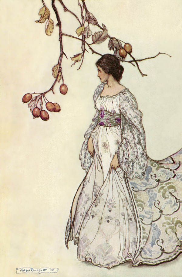 """""""Looking Very Undancey Indeed"""" illustration by Arthur Rackham for 'Peter Pan in Kensington Gardens', 1906, by J.M. Barrie"""