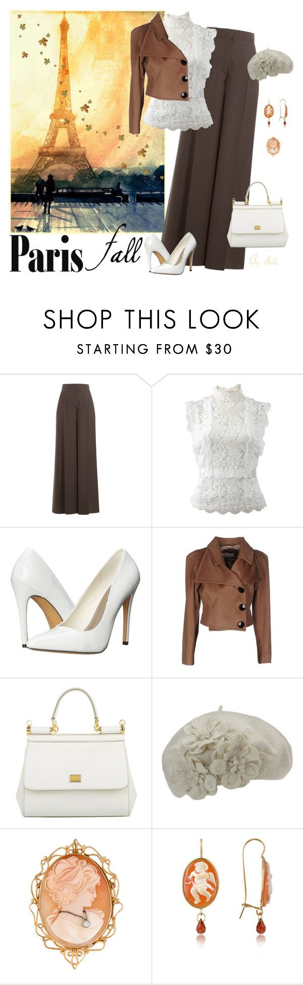 """I Love Paris In the Fall - French Elegance"" by selene-cinzia ❤ liked on Polyvore featuring Valentino, Oscar de la Renta, Michael Antonio, Bencivenga Couture, Dolce&Gabbana, Betmar, Del Gatto and fallgetaway"