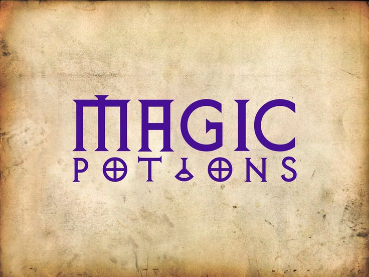 Download Magic Potions sign in purple | Typography letters, Potions ...