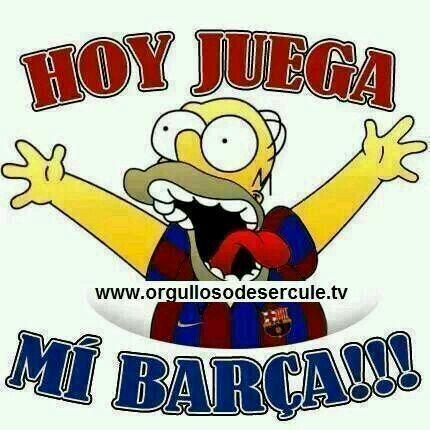 Hoy juega mi Barça!!!
