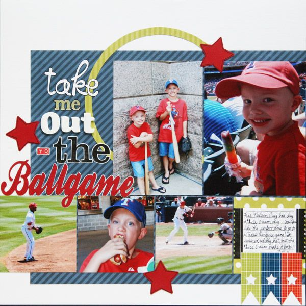 Take Me Out to the Ballgame - Scrapbook.com