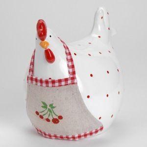 Poule Cerise Amadeus Zoom 19.00 € Poule Cerise Déco campagne - Déco champêtre Déco poule Poule décorative en céramique