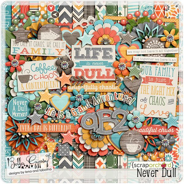 Never Dull by Bella Gypsy Designs!  This kit is still on sale for a very limited time only!  Grab the kit while it's on sale and you'll receive the coordinating addon for free!! #bellagypsy #fwp #neverdull