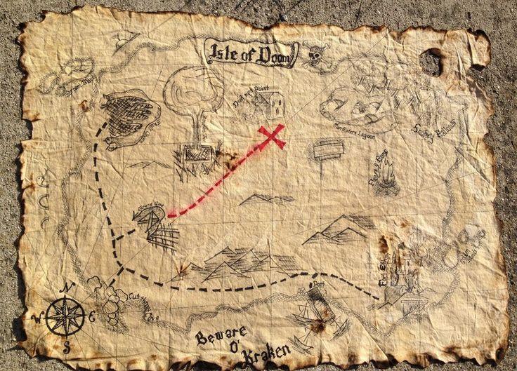Pirate Map by abbeydeath