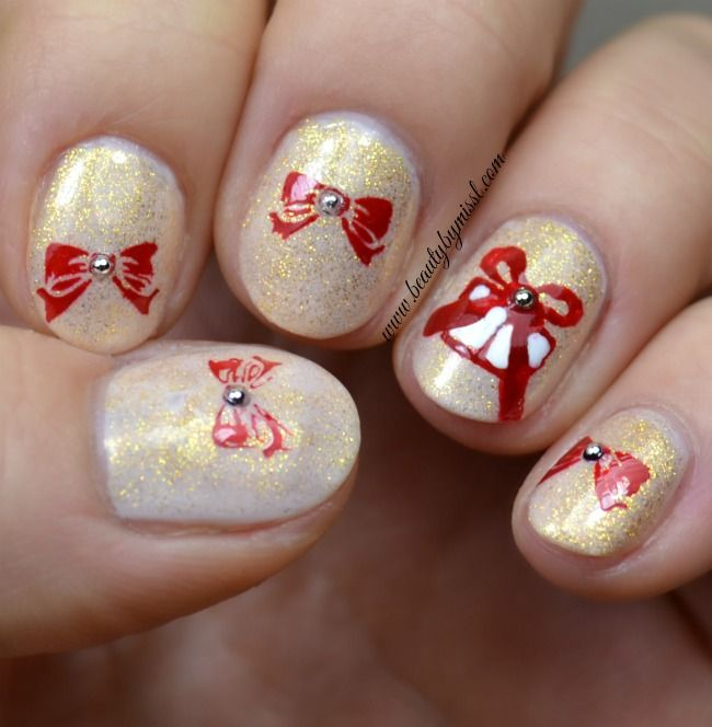 276 best challenge your nail art images on pinterest challenges 12daysofchristmasnailart presents and bows bow nail artred prinsesfo Gallery