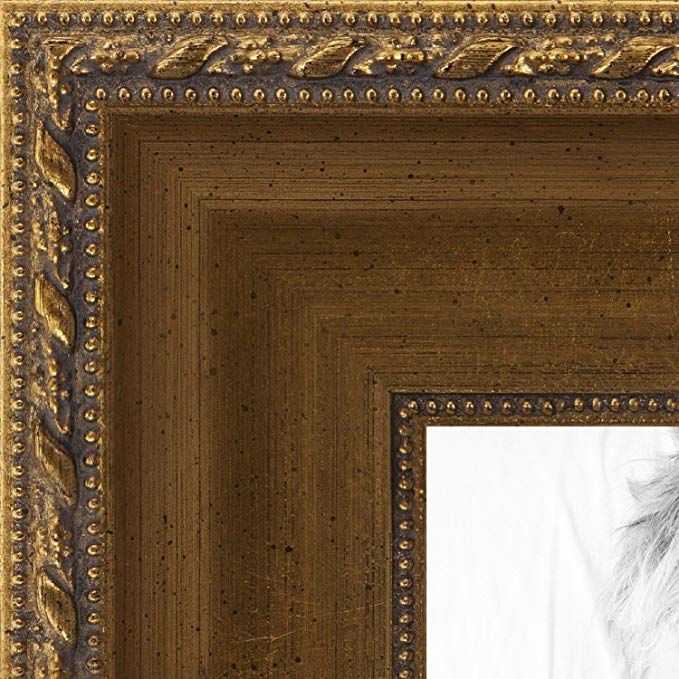 Arttoframes 11x13 Inch Muted Gold With Metallic Detailing Wood Picture Frame 2womd5026 11x13 Review Picture On Wood Wood Picture Frames Frame