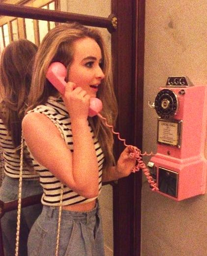 "Sabrina Carpenter  ""hello,anybody there"""
