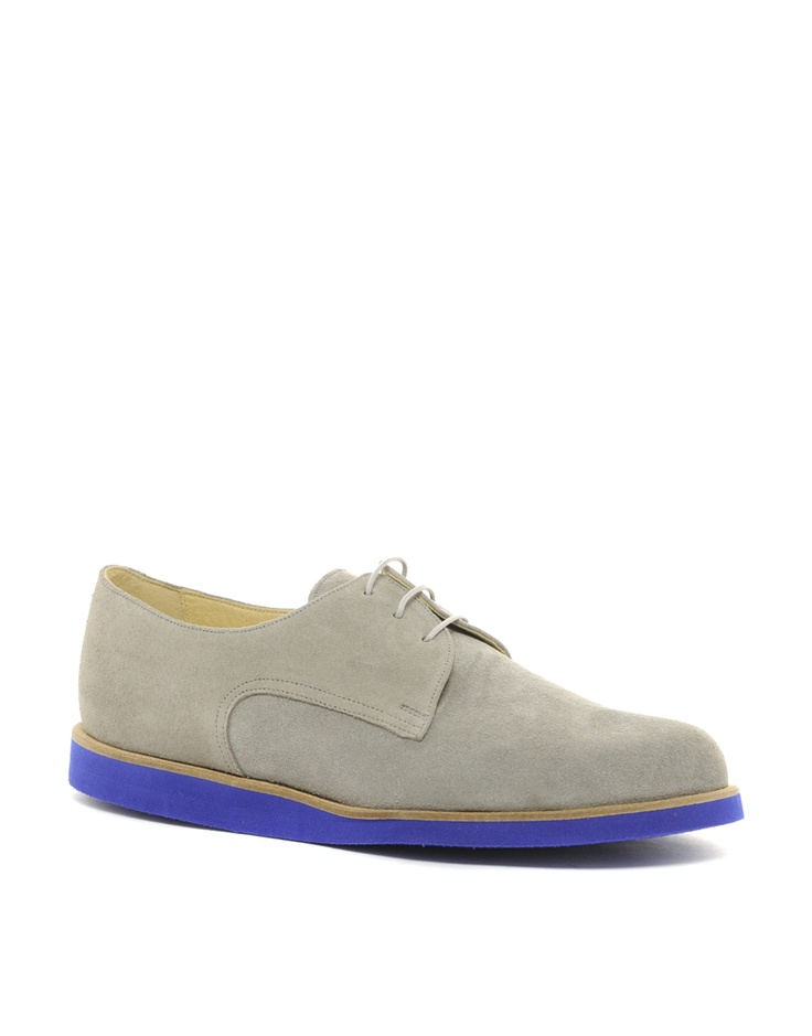 T slack suede derby shoes