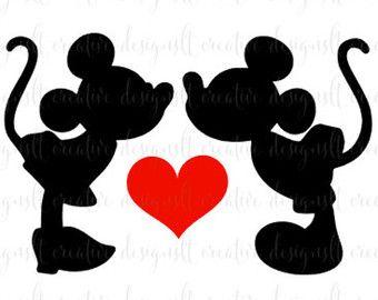 Download SVG de beso de Mickey Minnie, Minnie Mickey amor SVG ...
