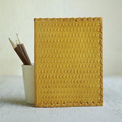 Cadeaux de noel, cuir Jaune fait a la main Journal blanc Journal personnel composition carnet de voyage carnet de voyage carnet de croquis…