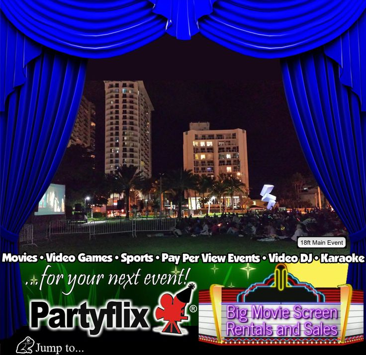 Big Inflatable Movie Screen Rentals and Sales | Partyflix®