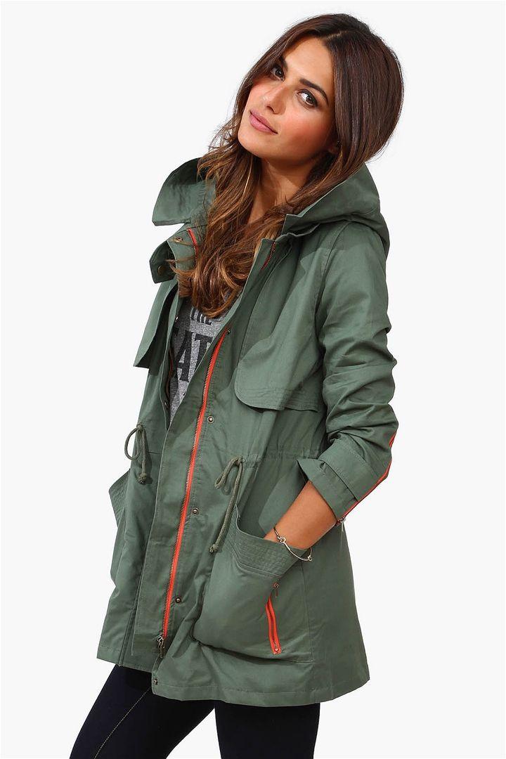 oliver combat jacket olive fashion pinterest spring hoods and closet. Black Bedroom Furniture Sets. Home Design Ideas