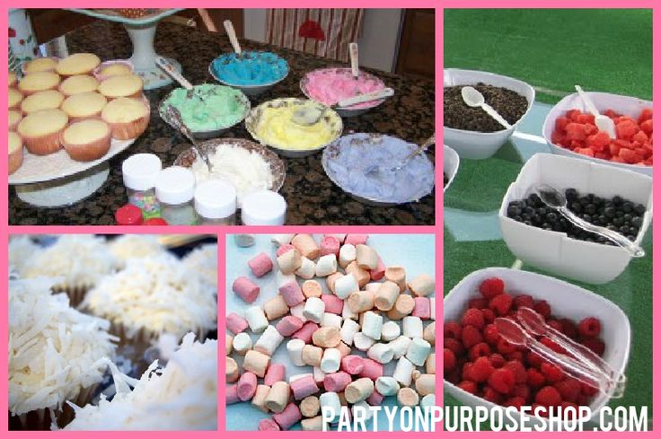 cupcake party ideas: decorate your own cupcake stations  DIY Cupcake ...