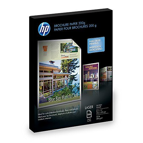 HP Laser Glossy Brochure Paper 100 Sheets 8.5 x 11 inch 200 Gram-Q6608A #Laser #Glossy #Brochure #Paper #Sheets #inch #Gram