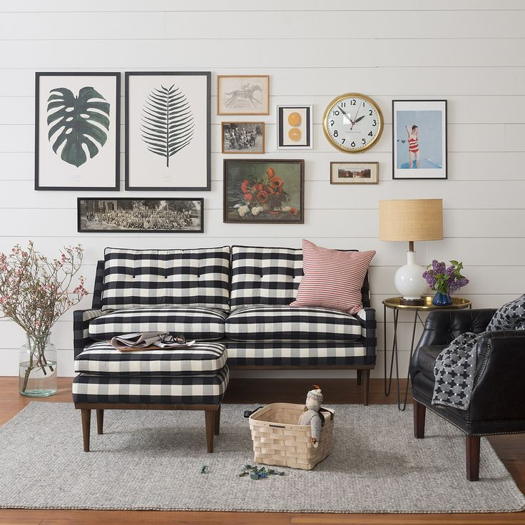 Jack Loveseat - Windowpane Plaid | The Jack Collection | Furniture