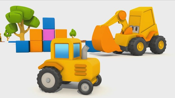 Cartoni Animati per Bambini - L' escavatore Max: come si fa un trattore?